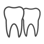 Crowding teeth icon