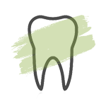 Discoloration teeth icon