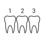 Counting teeth icon