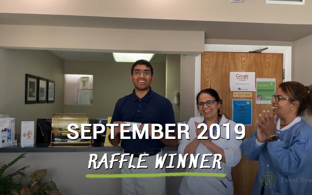 September 2019 Raffle Winner
